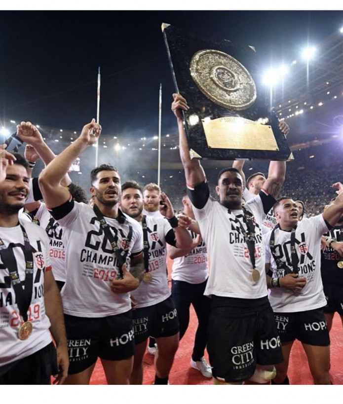 T-shirt manches courtes Homme Champions 2019 Stade Toulousain 2
