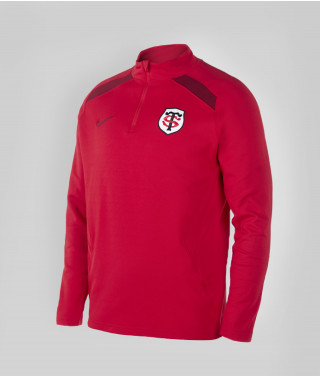Sweat Demi Zip Homme Drilltop 20/21 Stade Toulousain Rouge 1