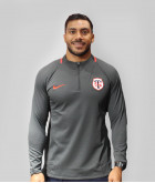 Sweat Demi-zip Homme Drilltop 19/20 Stade Toulousain Gris Anthracite 1