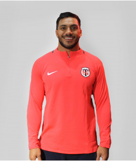 Sweat Demi-zip Homme Drilltop 19/20 Stade Toulousain Rouge 1