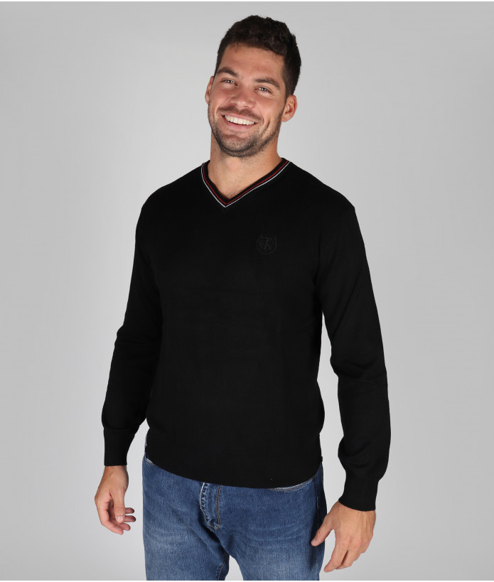 Pull col v Homme Pascal Stade Toulousain Noir 3