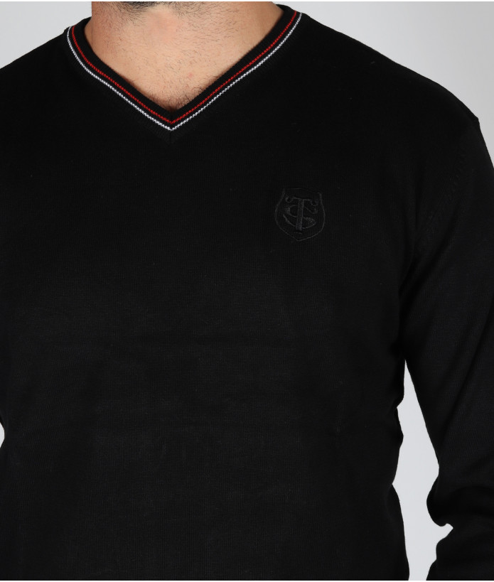 Pull col v Homme Pascal Stade Toulousain Noir 6