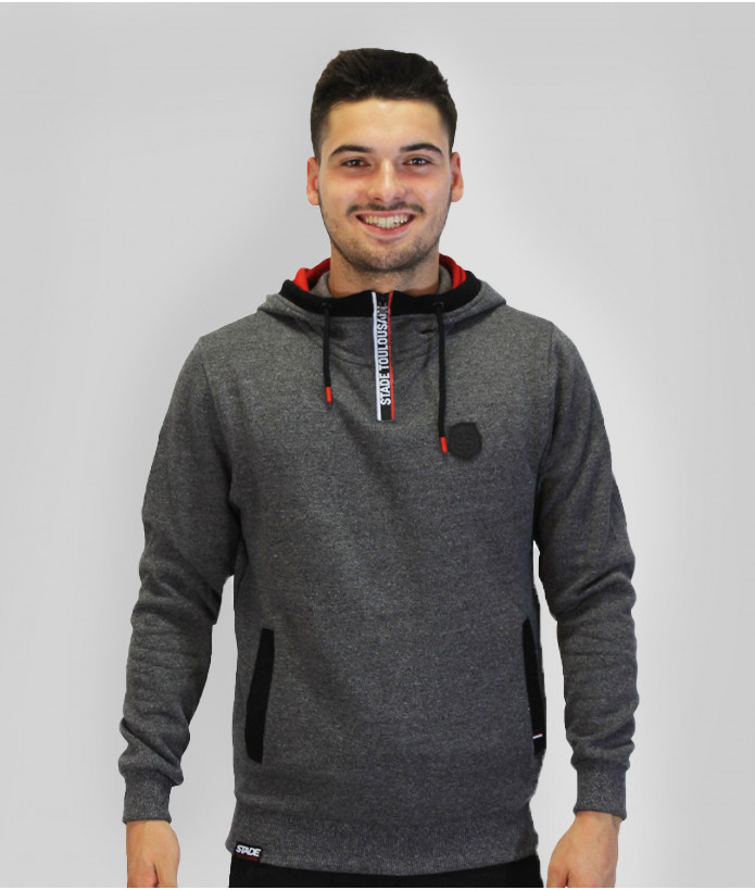 Sweat Demi-zip Homme Contrast Stade Toulousain 1