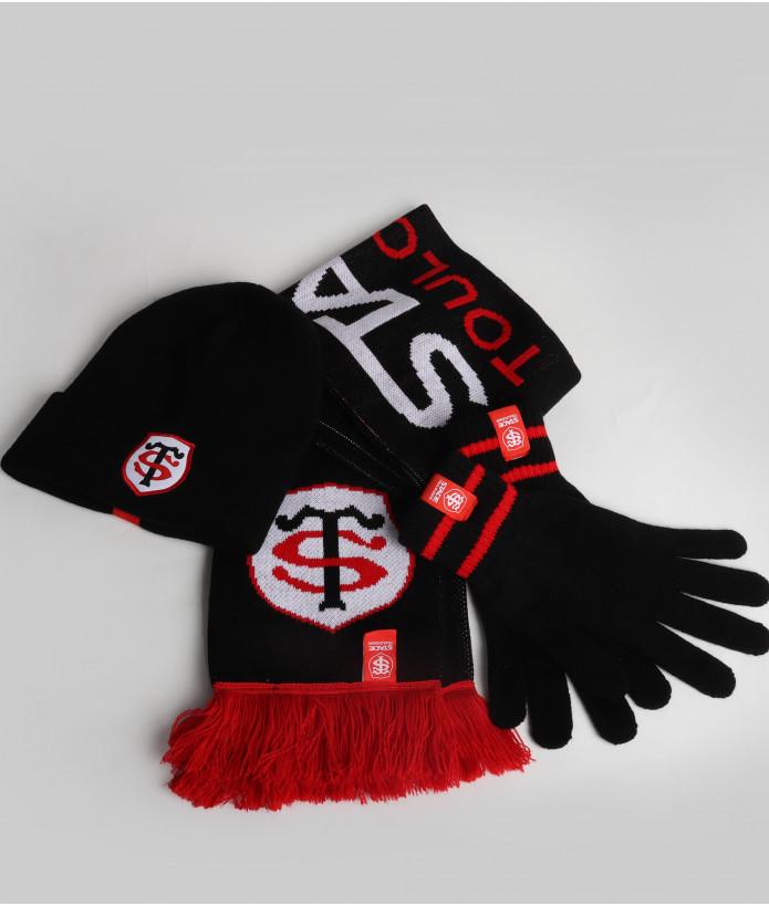 Set Hiver Echarpe Bonnet et Gants Stade Toulousain 1