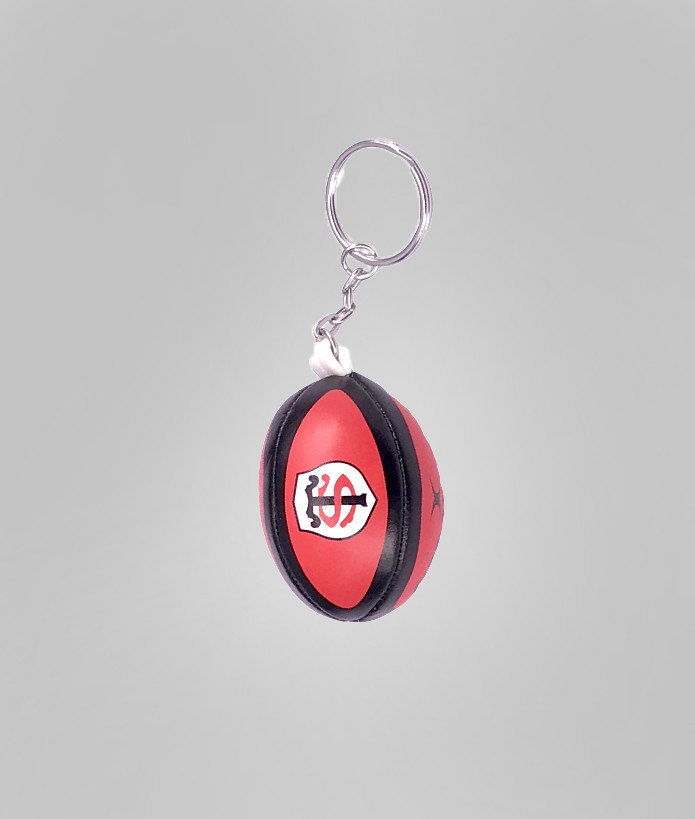 Porte clé ballon mousse Gilbert Stade Toulousain Rouge 1