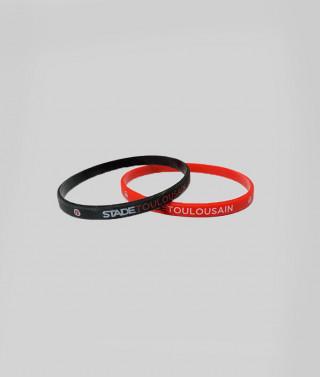 Bracelet silicone duo Stade Toulousain 1