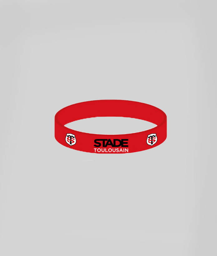 Bracelet en silicone Stade Toulousain Rouge