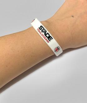 Bracelet en silicone Stade Toulousain Blanc 2