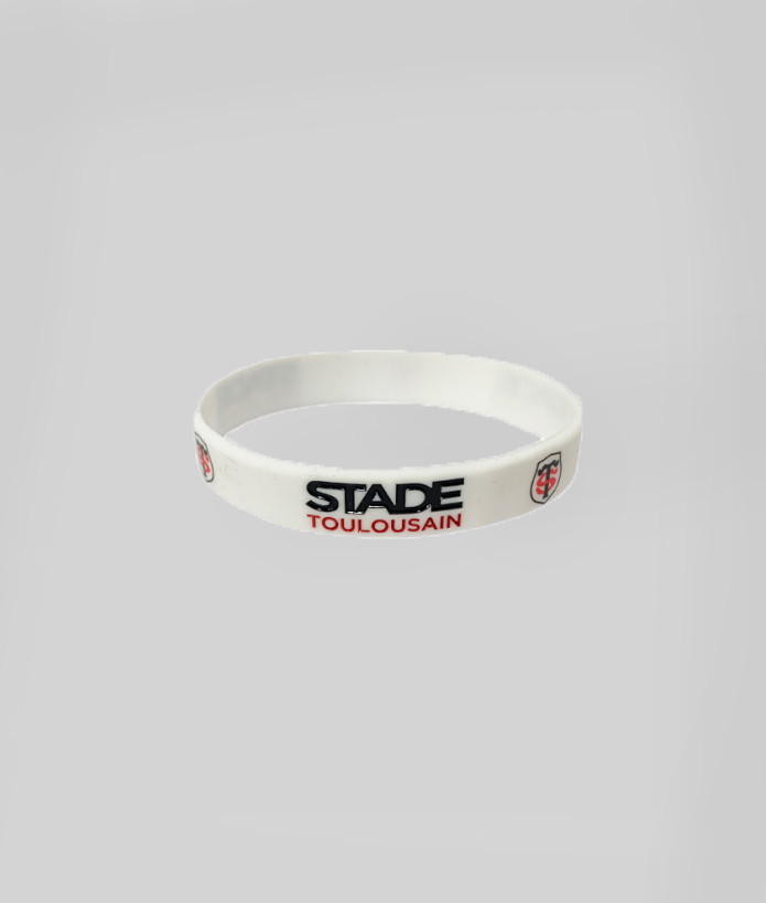 Bracelet en silicone Stade Toulousain Blanc 1