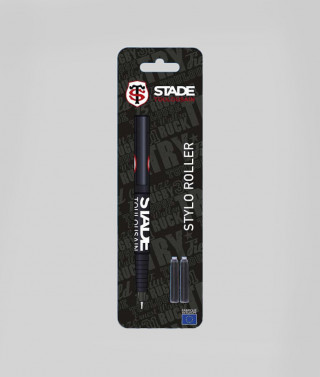 Stylo roller rechargeable noir Stade Toulousain
