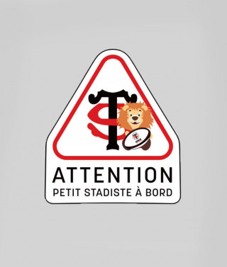 Autocollant attention petit stadiste Stade Toulousain