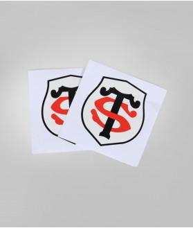Autocollant 5cm Logo St Set De 2 Stade Toulousain 2