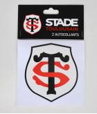 Autocollant 10cm Logo Set De 2 Stade Toulousain 1