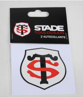Autocollant 10cm Logo Set De 2 Stade Toulousain 2
