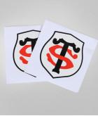 Autocollant 10cm Logo Set De 2 Stade Toulousain 5