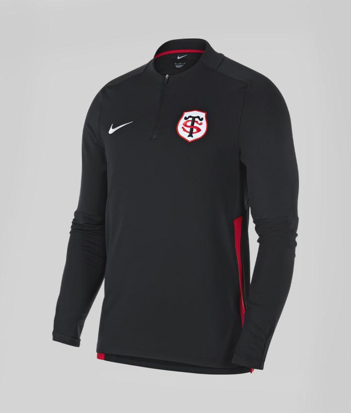 Sweat Demi-Zip Homme Drill Top 21/22 Stade Toulousain noir 1