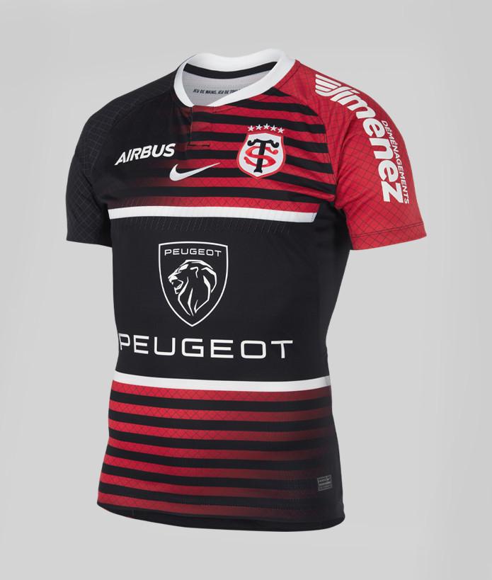 Maillot Officiel Homme Joueur Stade Toulousain 21/22 noir et rouge 1